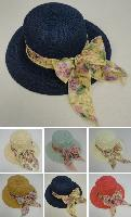 Ladies Fashion Hat [Wide Floral Bow]